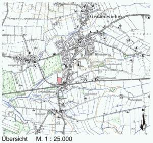 Großenwiehe B 20, Zum alten Bahnhof, Übersichtskarte
